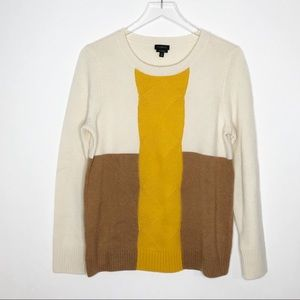 TALBOTS Cashmere Colorblock Sweater Medium
